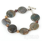 7 inches India gate bracelet with toggle clasp