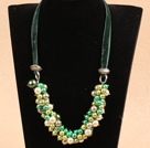 Fashion Green Series Christmas Crystal Seashell Beads Necklace
